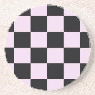 Funky Pink Black Blocks Coaster