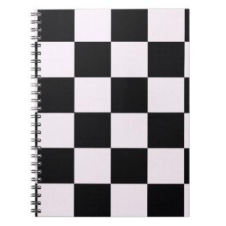 Funky Pink Black Blocks Spiral Notebook