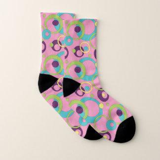 Funky Pink Circles Socks 1