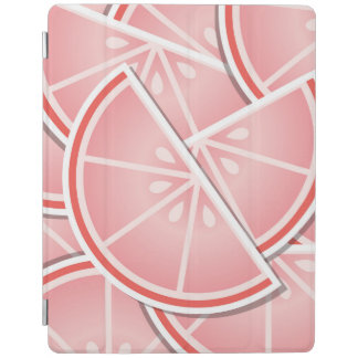 Funky pink grapefruit wedges iPad cover