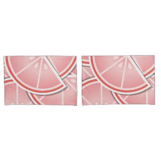 Funky pink grapefruit wedges pillowcase
