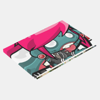 Funky Pink haired Zombie Girl Ghoul Guest Book