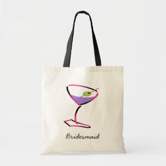 funky pink martini tote bag