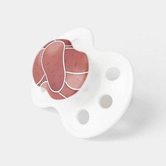 Funky pink potato pacifiers