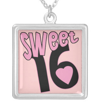 Funky Pink Sweet Sixteen Necklace