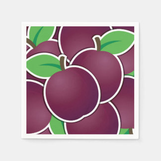 Funky plum disposable napkins