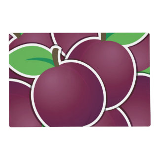 Funky plum laminated place mat