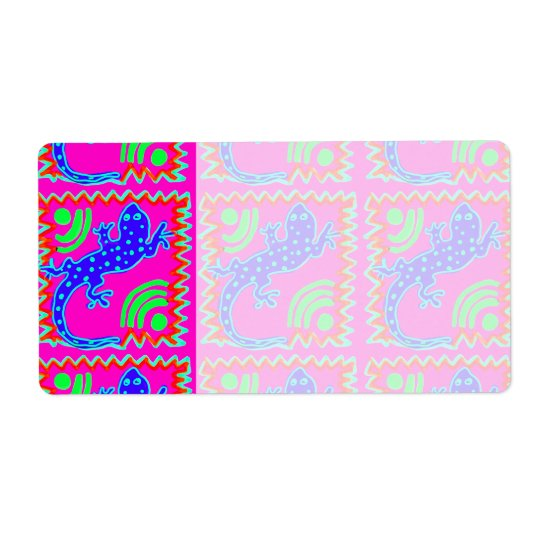 Funky Polka Dot Lizard Pattern Animal Designs Shipping Label