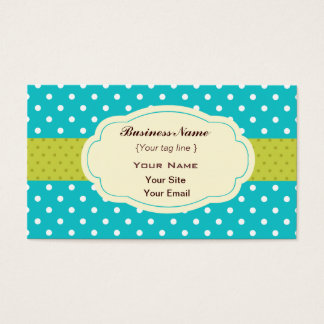 Funky Polka dots  Business Card Template
