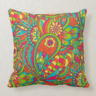 Funky Psychedelic 1_PILLOW Throw Pillow
