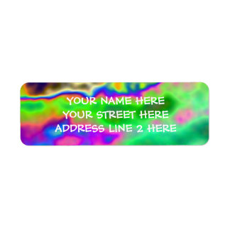 Funky Psychedelic Address Labels