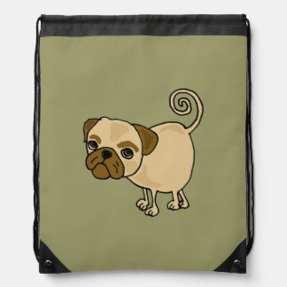 Funky Pug Cartoon Backpack