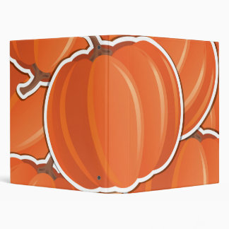 Funky pumpkin 3 ring binder