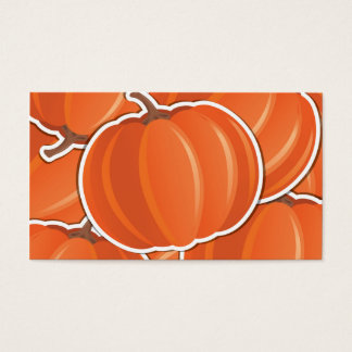 Funky pumpkin business card