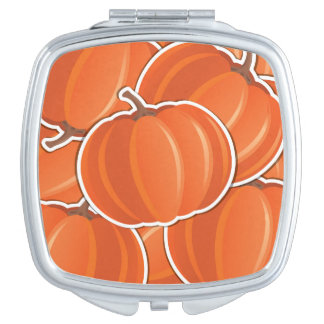 Funky pumpkin mirrors for makeup