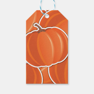 Funky pumpkin pack of gift tags