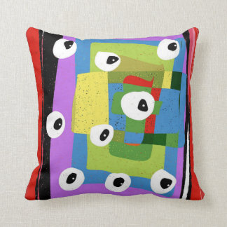 Funky punky throw pillow