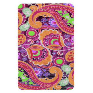 Funky Purple Abstract Retro Paisley Pattern Magnet