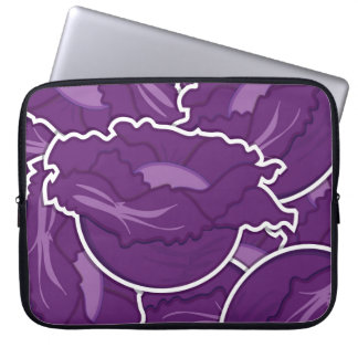 Funky purple cabbage computer sleeves