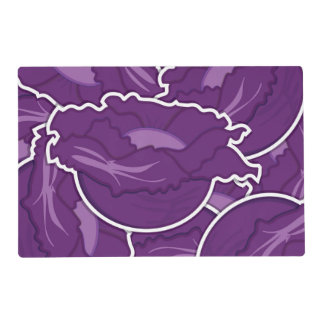 Funky purple cabbage laminated placemat