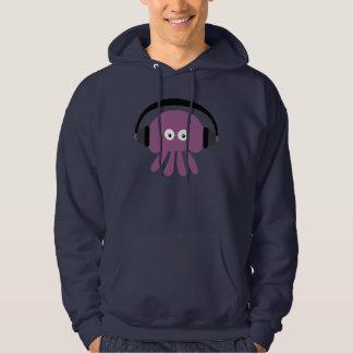 Funky Purple DJ Jellyfish Navy Hoody