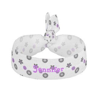 Funky Purple Flower Customizable Hair Tie