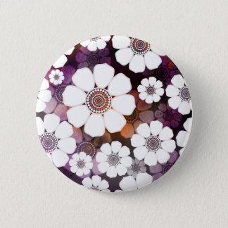 Funky Purple Flower Power 2 Inch Round Button