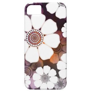 Funky Purple Flower Power Case For The iPhone 5