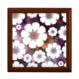 Funky Purple Flower Power Gift Box