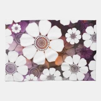 Funky Purple Flower Power Kitchen Towel