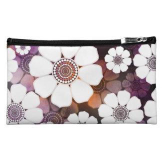 Funky Purple Flower Power Makeup Bag