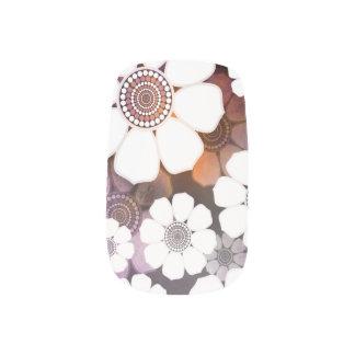 Funky Purple Flower Power Minx Nail Art