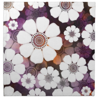 Funky Purple Flower Power Napkin