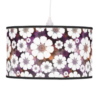Funky Purple Flower Power Pendant Lamp