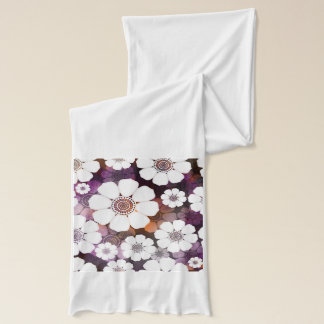 Funky Purple Flower Power Scarf