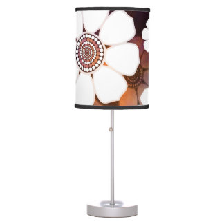 Funky Purple Flower Power Table Lamp