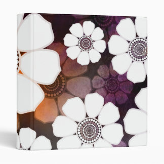 Funky Purple Flower Power Vinyl Binders