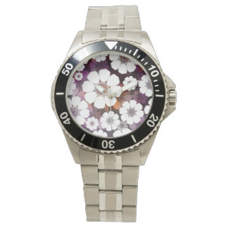Funky Purple Flower Power Watch