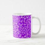 Funky purple flowers and leaves Mug