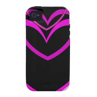 Funky Purple Hearts Valentines Day design Case For The iPhone 4