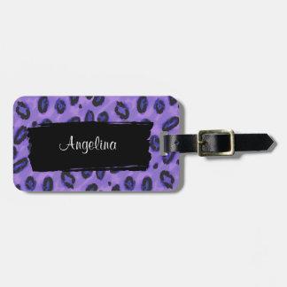 Funky Purple Leopard Luggage Identity Tag
