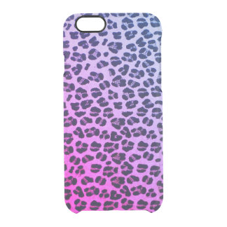 Funky Purple Leopard Print Clear iPhone 6/6s Case