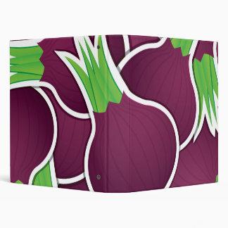 Funky purple onions binders