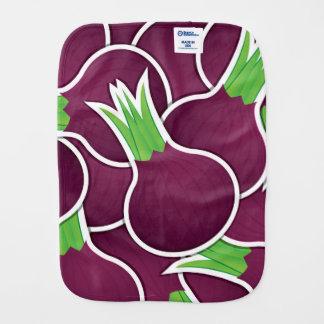 Funky purple onions burp cloths