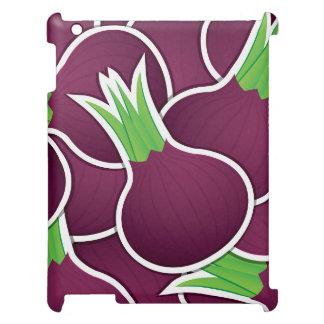 Funky purple onions iPad case