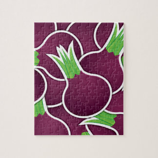 Funky purple onions jigsaw puzzle