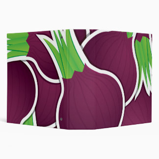 Funky purple onions vinyl binder