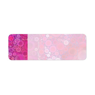 Funky Purple Pink Concentric Circles Girly Pattern