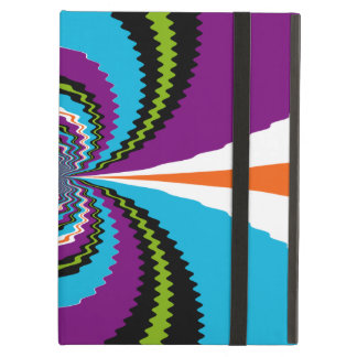 Funky Purple Teal Water Ripples Pattern iPad Cover