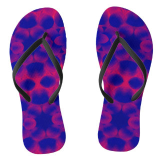 Funky Purples Flip Flops